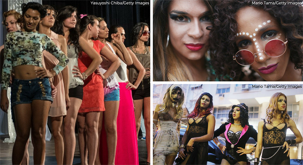 "Transgender women or ""travestis"" in Brazil"