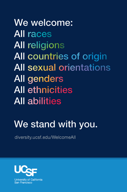 UCSF We stand with you poster.