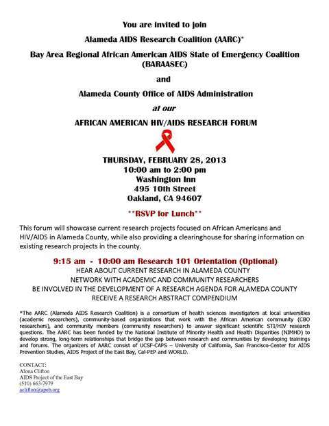 AARC Research Forum February 2013